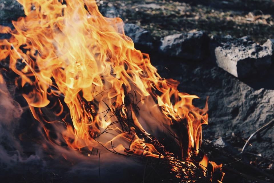 fire, dark, night, camping, travel, adventure