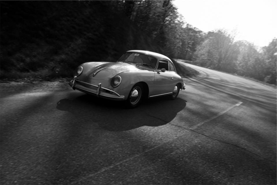 classic car vintage road driving pavement automotive
