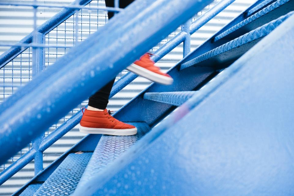stairs staircase shoes lifestyle walking