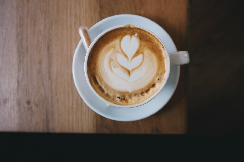coffee, latte, art, espresso, steamed milk, coffee shop, caffelatte, cup, spoon
