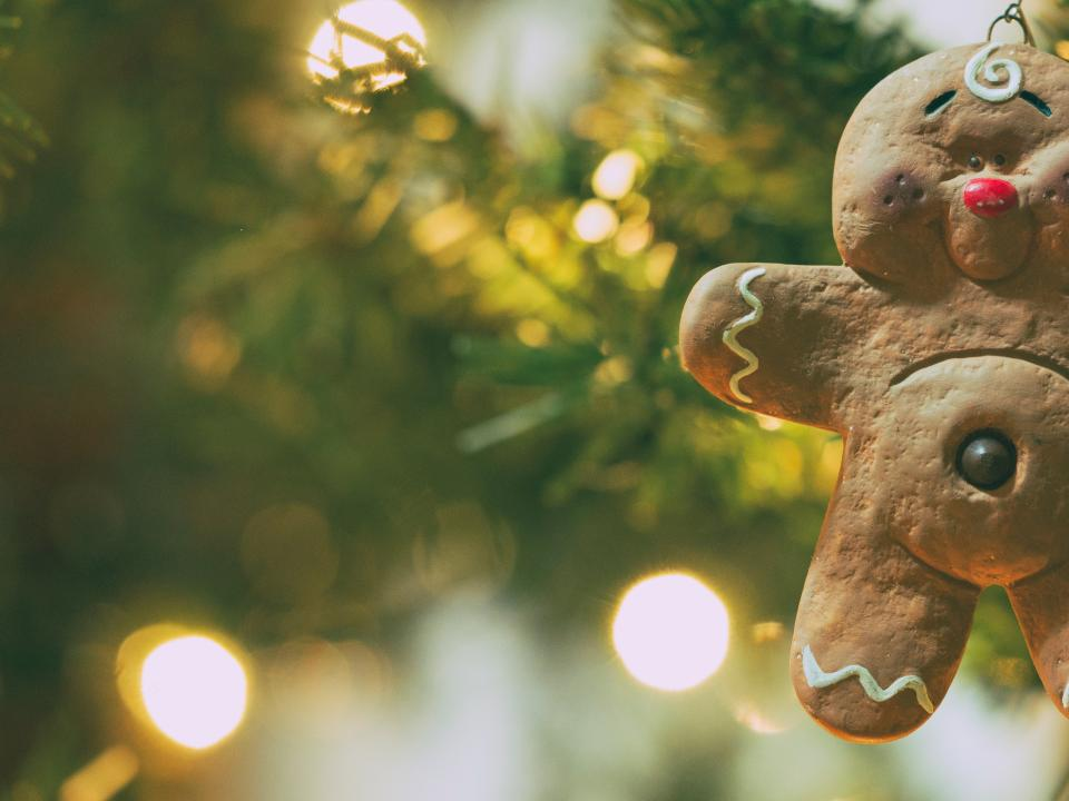 christmas, decor, tree, lights, bokeh, blur, decoration, ornaments, holiday, season