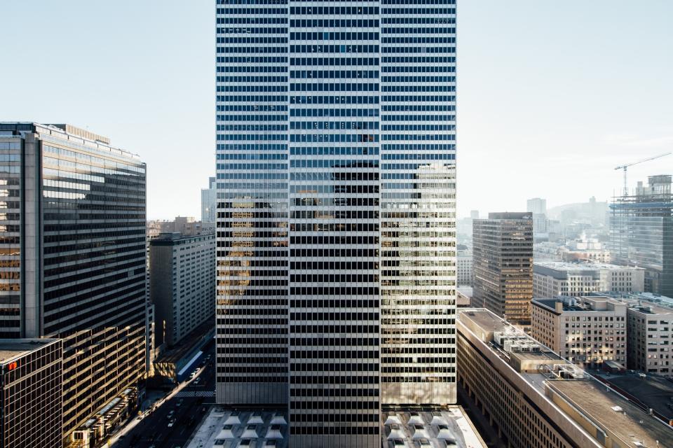 urban, city, establishment, building, structure, infrastructure, tower, clouds, sky, aerial, hotel, condominium