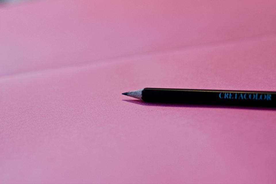pencil writing pink business creative art