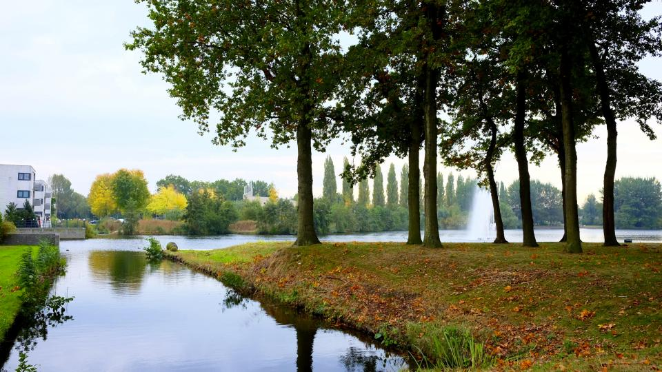 nature, landscape, trees, grass, autumn, fall, water, river, lake, travel, adventure, fountain, green