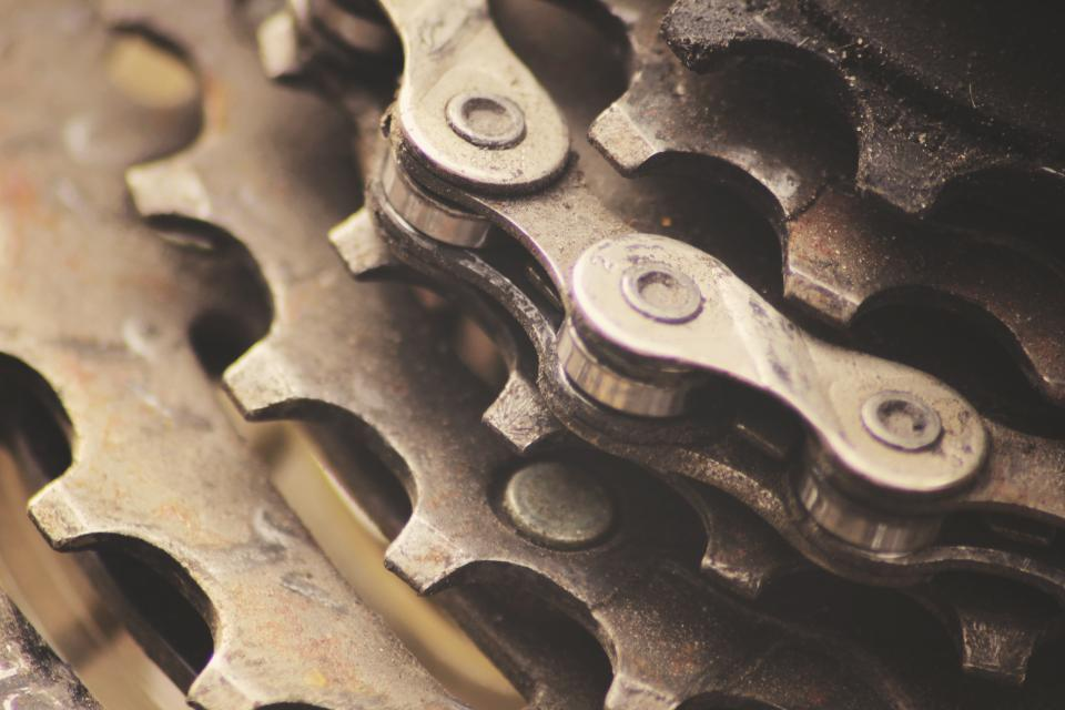 gears chains bike bicycle
