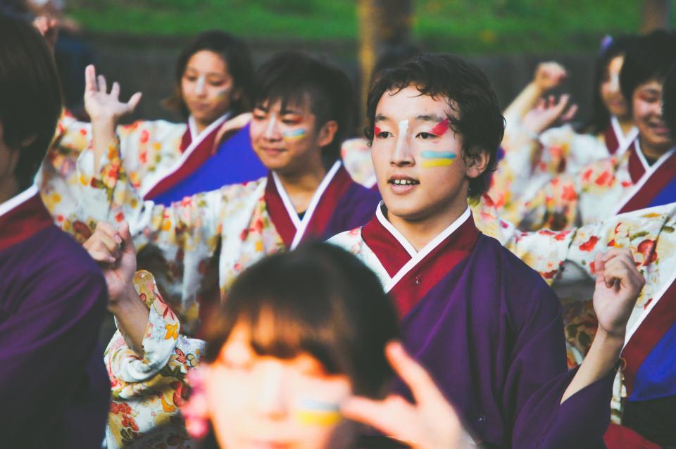 people, boys, girls, costume, dancing, smile, happy