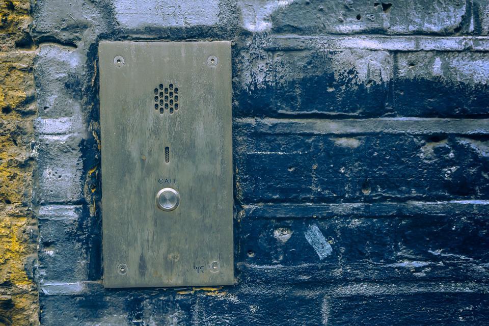 wall, call, voice, door, house, safety, bricks