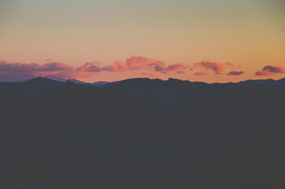 nature landscape shadow silhouette mountain sunset clouds sky
