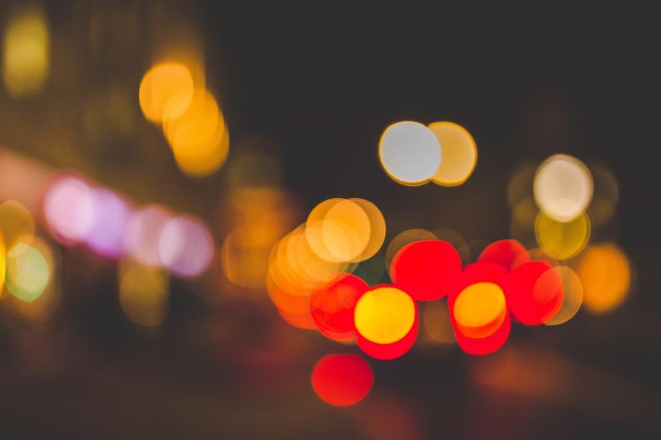 lights night bokeh colorful traffic