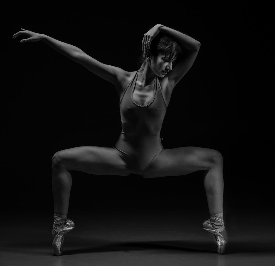 people, woman, dancing, dancer, black and white, art, performance, ballet