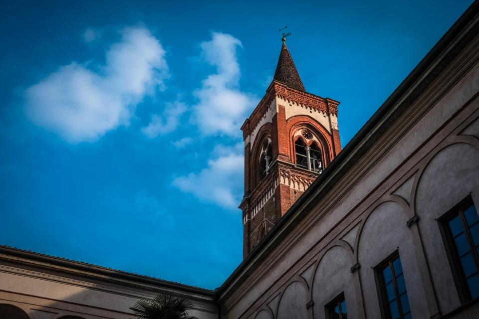 architecture, building, blue, sky, clouds, cathedral, catholic, church