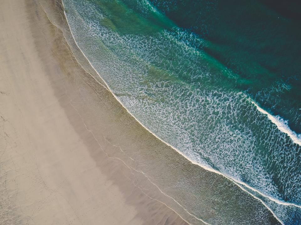 water, ocean, sea, travel, adventure, waves, current, coast, sand, beach, vacation, aerial