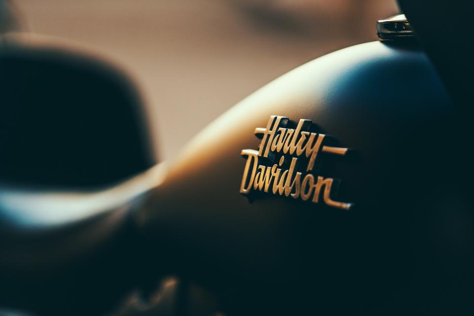 harley, davidson, motorcycle, company, logo, blur
