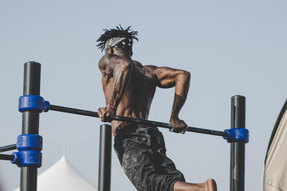 people, man, jump, fitness, exercise, health, sport, game