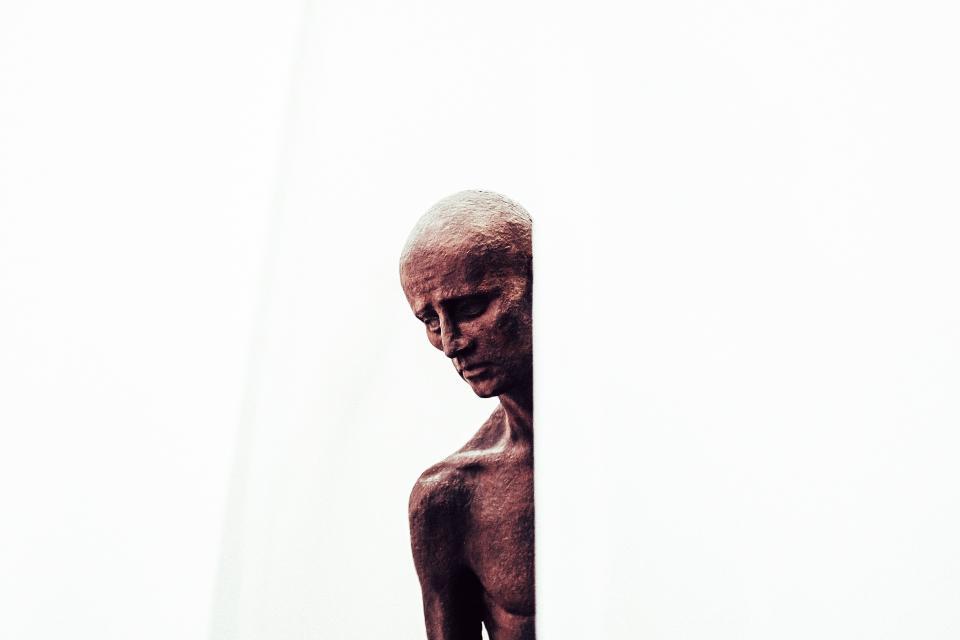 people, old, man, sculpture, art