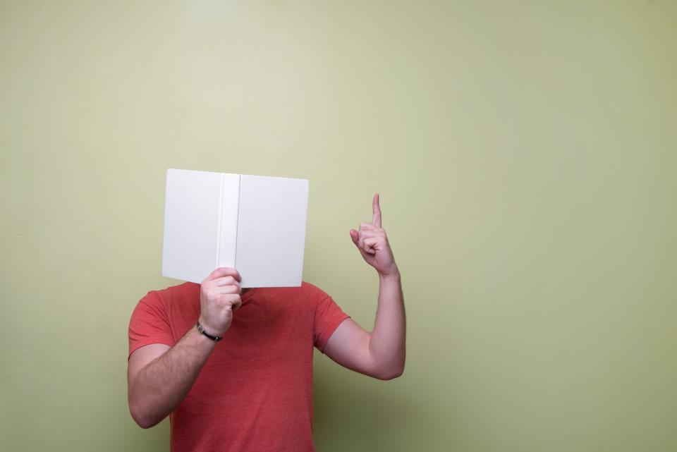 book reading guy man people