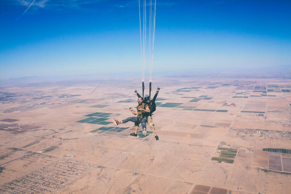 nature, aerial, people, man, happy, picture, blue, sky, land