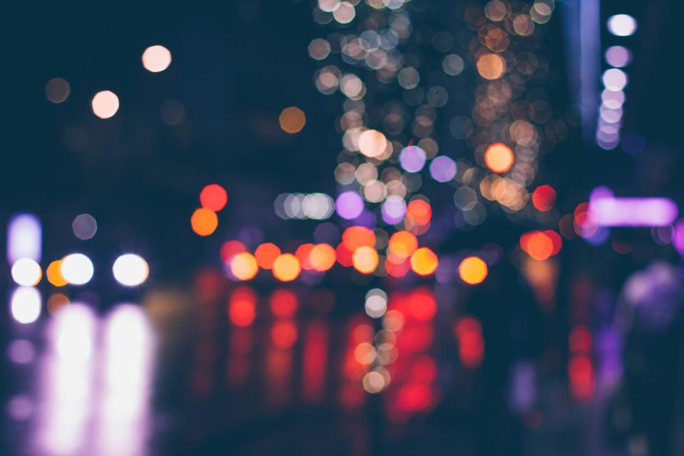 bokeh, lights, night, dark, photography, christmas, holiday, festival