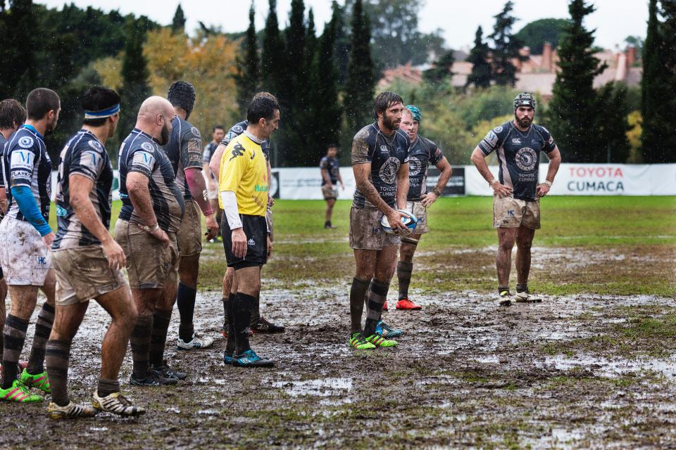 people, men, outdoor, nature, field, sport, game, mud, grass, ball