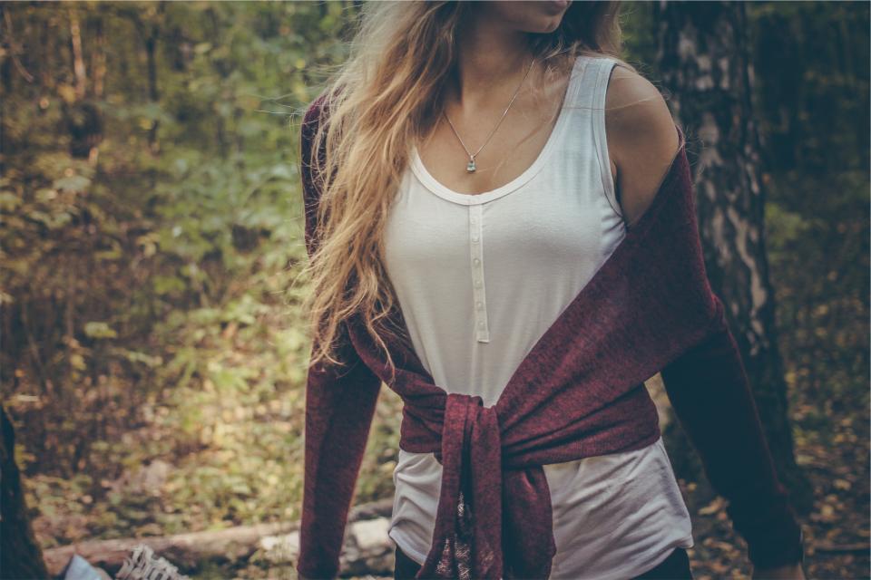 girl woman model fashion long hair blonde tank top sweater people beauty