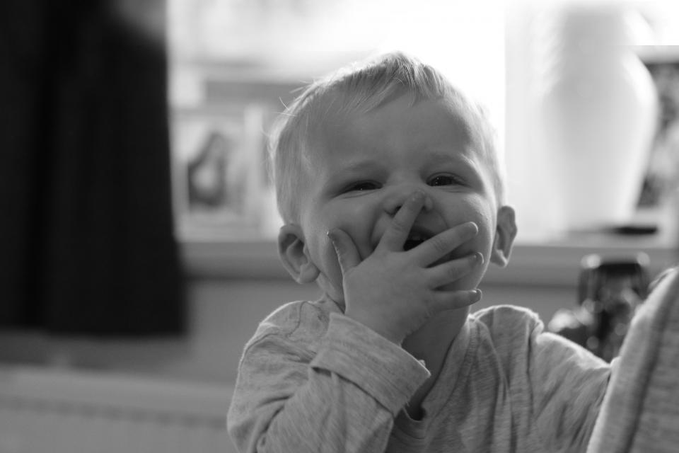 people baby child kid happy black and white monochrome