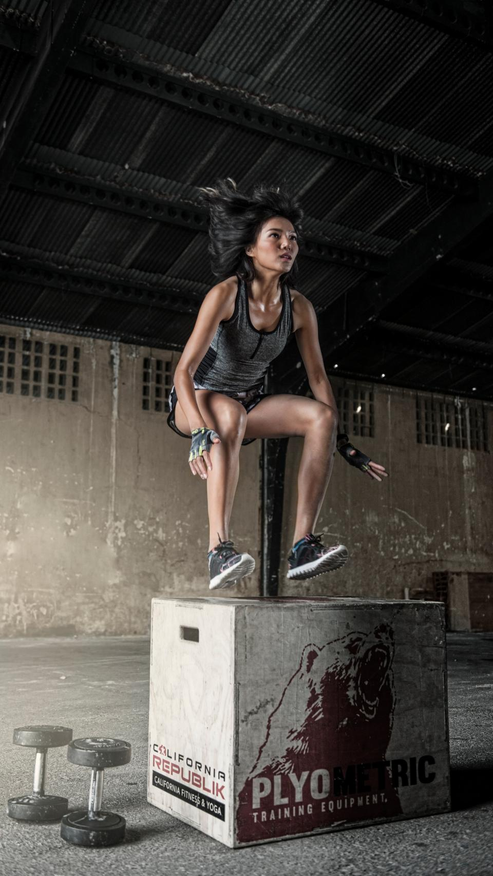 people, girl, exercise, fitness, health, gym, box, dumbbell, workout