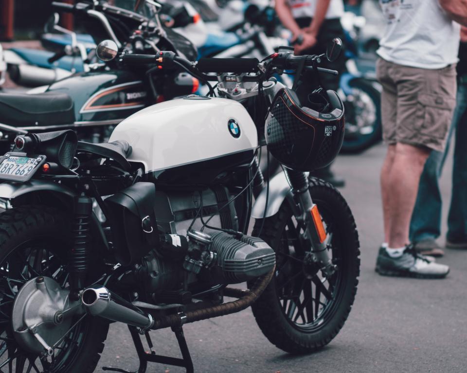 motorcycle, motor, bmw, wheel, helmet, leg, shoe, travel, transportation