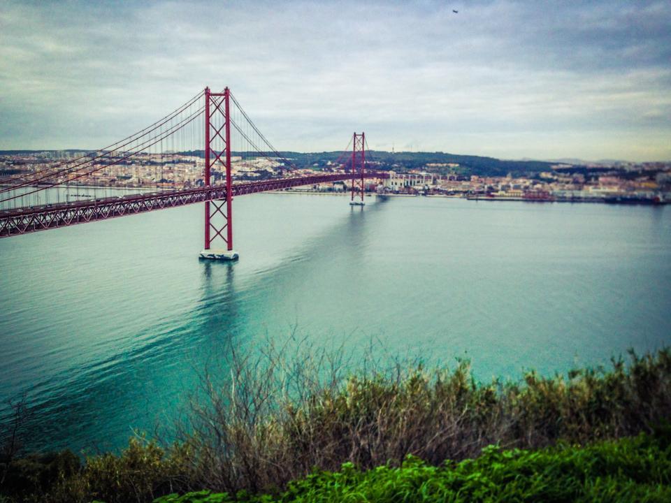 bridge, car, river, flow, lane, truck, vehicle, road, trees, plants, nature, view, adventure, trip, travel, water, land