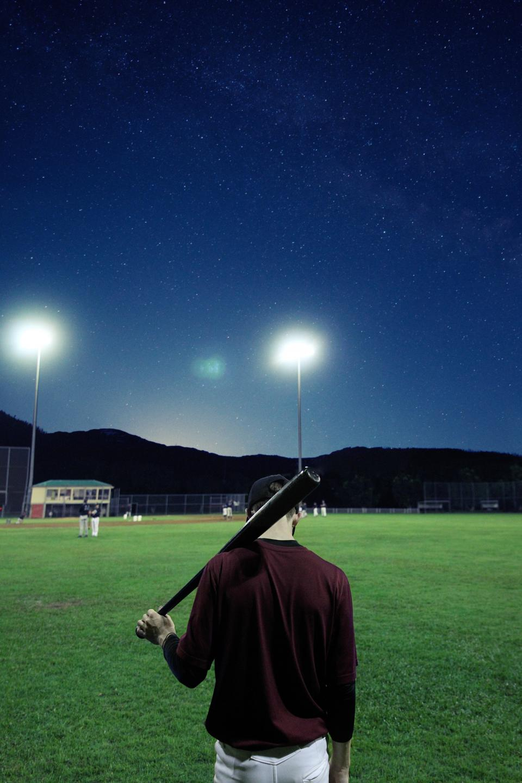 people, baseball, sports, hobby, court, ball, galaxy, night, sky, dark, lamp, team, constellation
