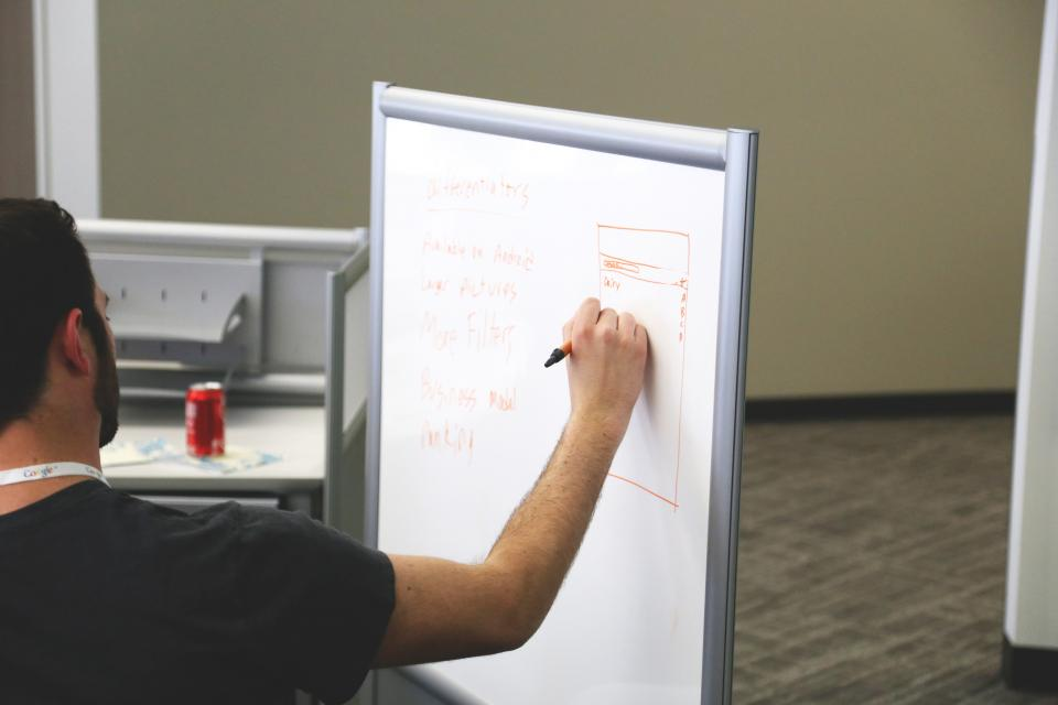 whiteboard, planning, marker, business, guy, man, office, meeting