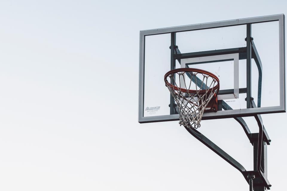 basketball, ball, spalding, court, sports, exercise, hobby, game, ring, net