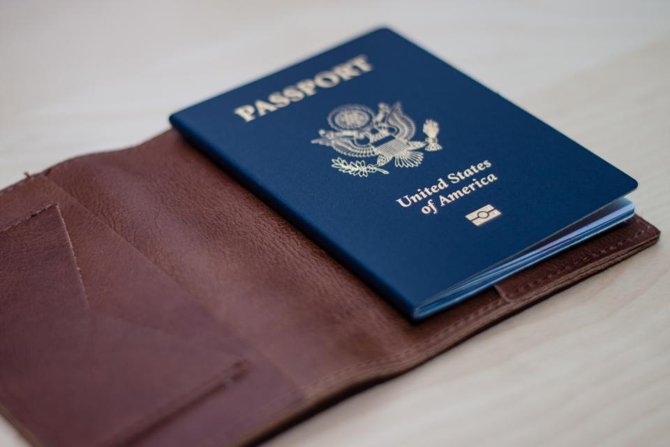 passport travel trip