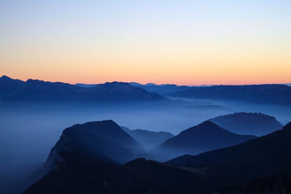 nature landscape mountain clouds sky travel adventure trek blue hike climb fog sunset
