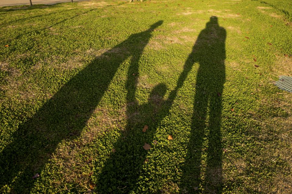 nature landscape shadow summer green grass family people man woman couple kid child