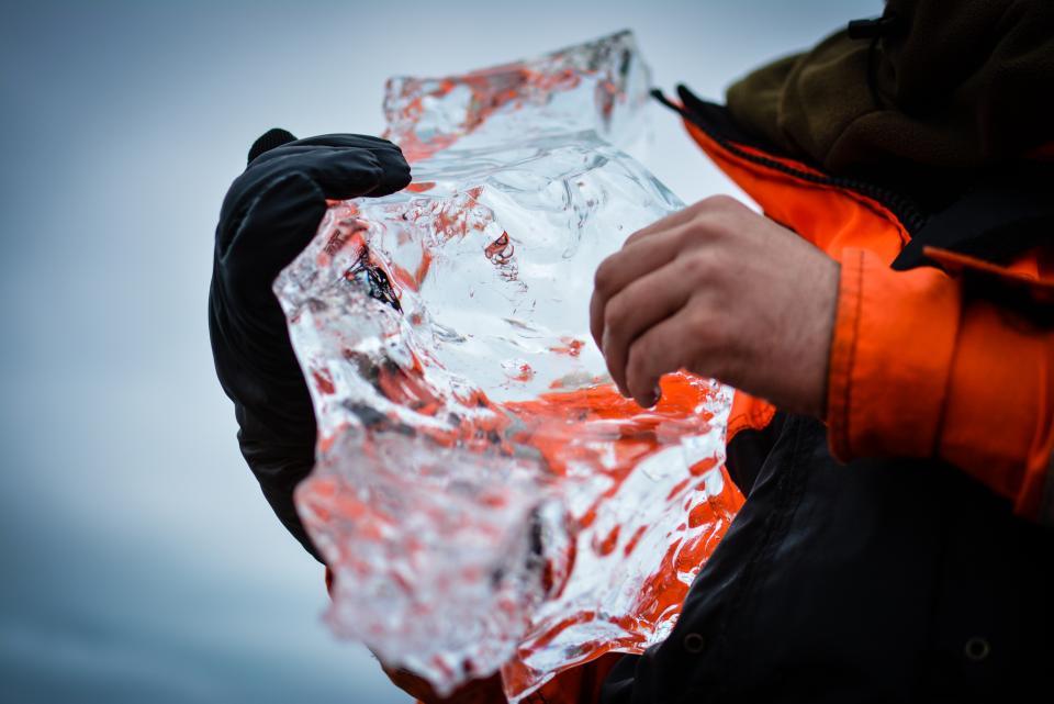 people man ice iceberg cold