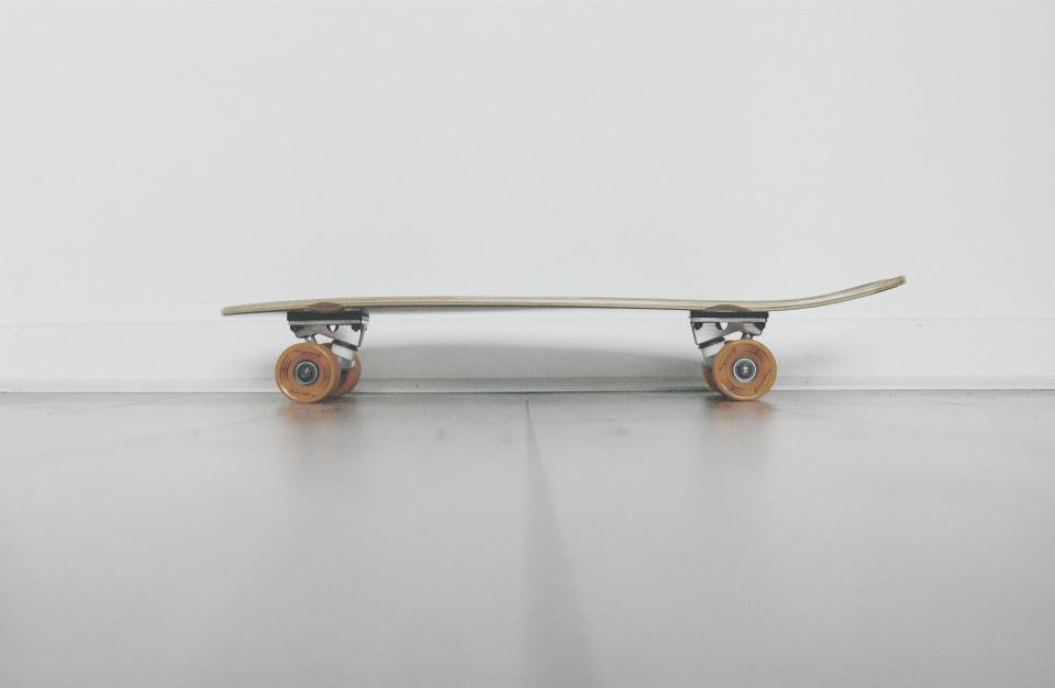 still, items, things, skateboard, skate, thrasher, wheels, floor, white, floor, walls