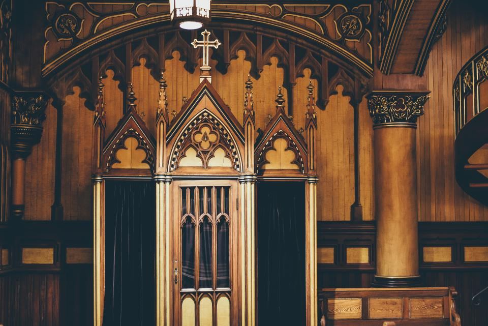 building, architecture, design, ceiling, wall, door, church, cathedral, chapel, cross, chandelier