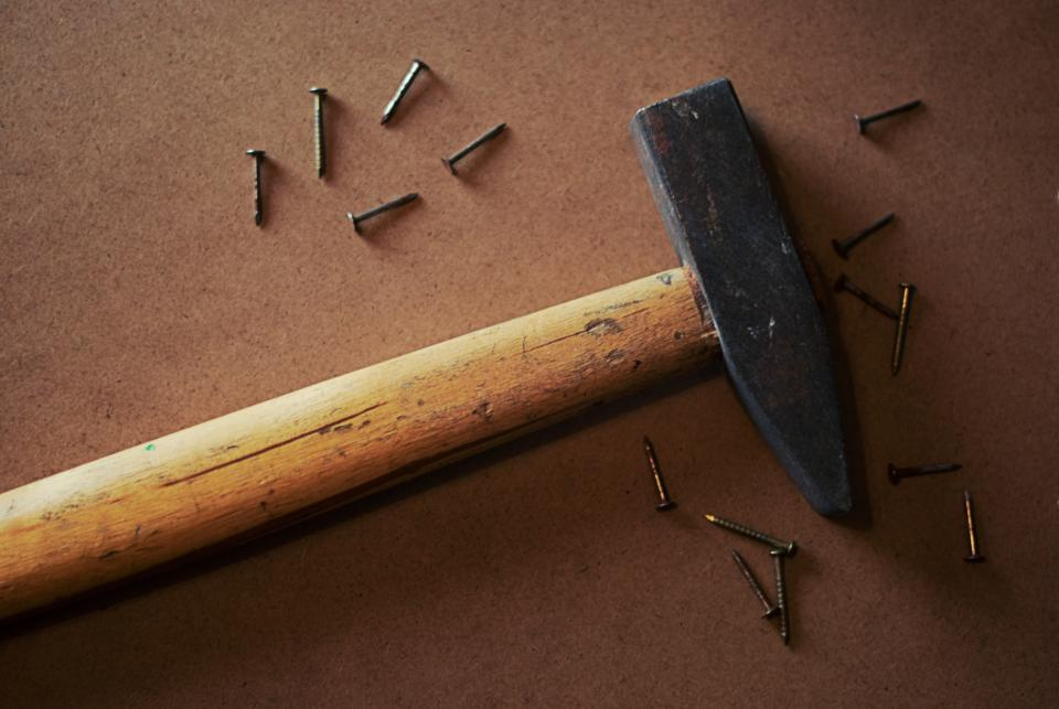 hammer nails tools objects