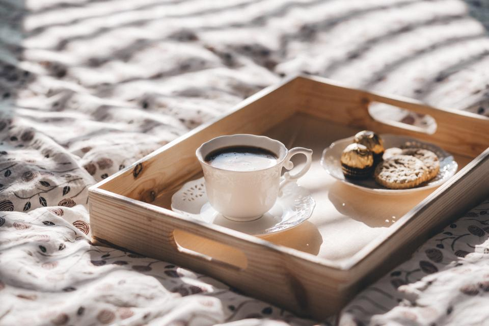 coffee mug cookies breakfast biscuit morning chocolate porcelain