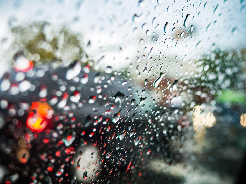 abstract glass wet bokeh blur rain water drops