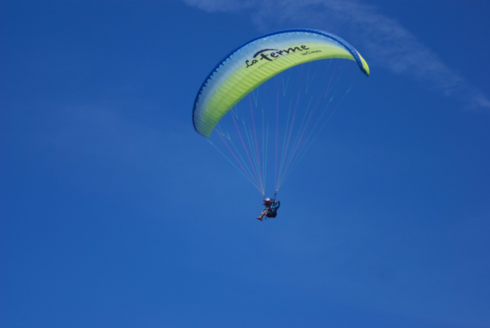 paraglide, fly, free, sky, blue, sport, extreme, parachute, parasailing