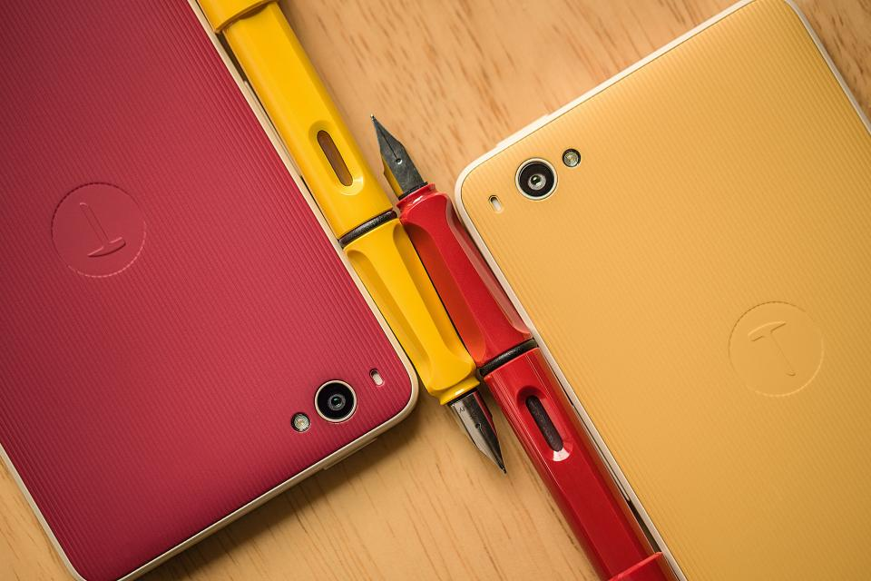 technology gadgets communication smartphones mobile phones calligraphy pens work business office red yellow