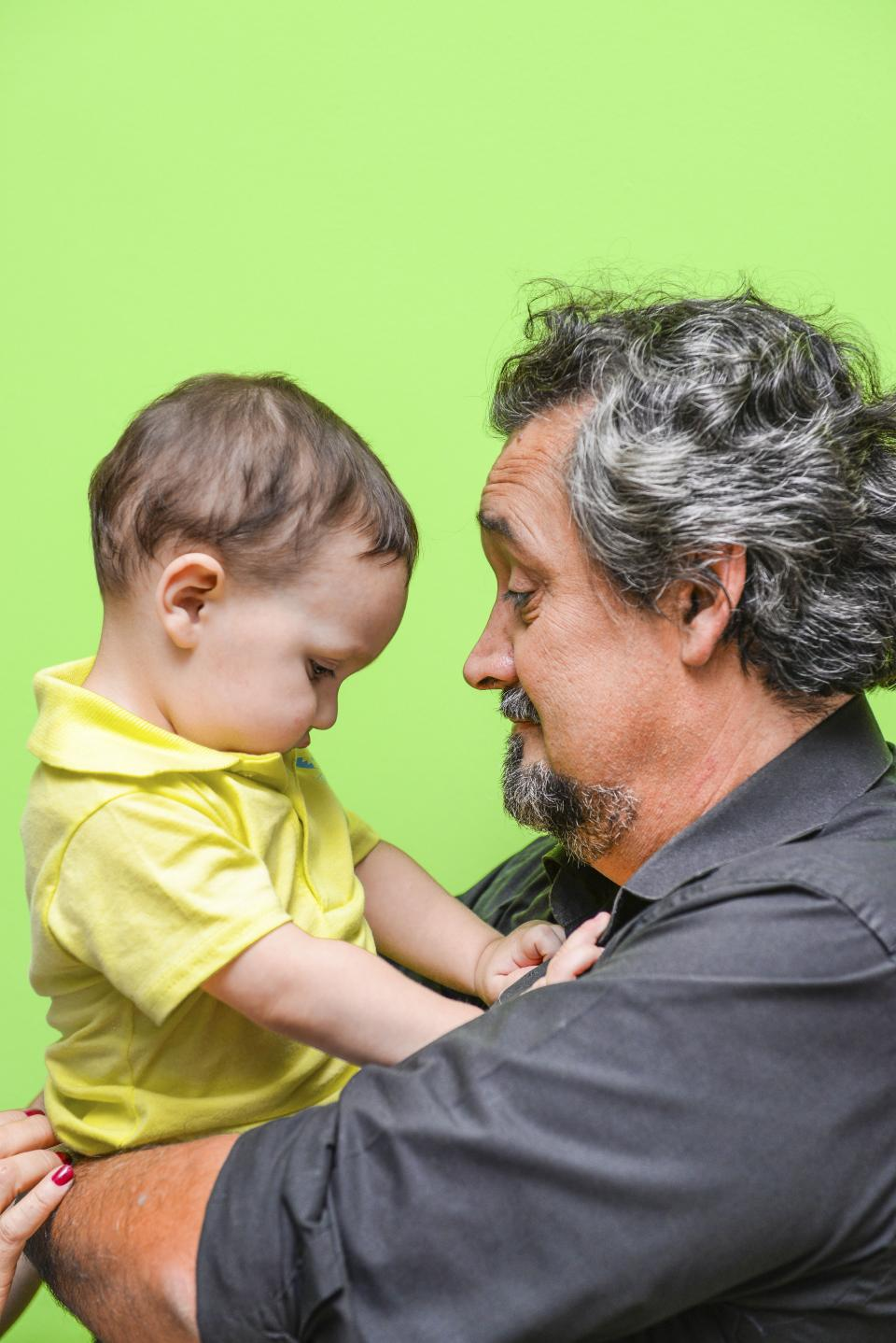 people, man, old, father, baby, son, parent, cute, sweet, intimate