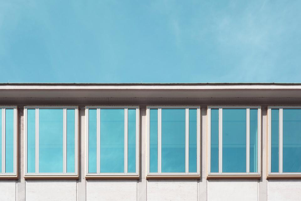 architecture building infrastructure blue window design