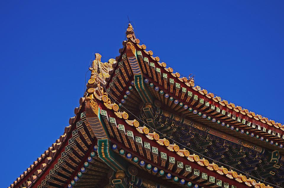 architecture china building arch blue sky