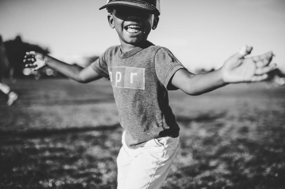 people child boy happy black and white smile african american