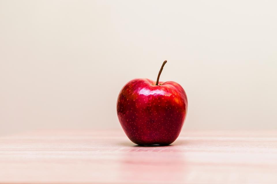 red, apple, fruit, food, juicy, health
