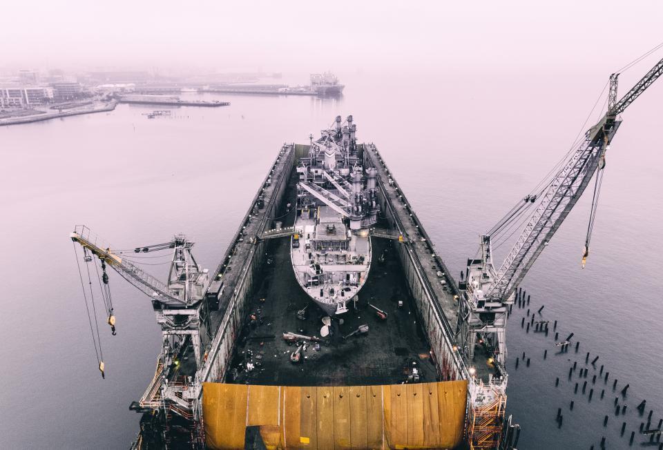 ship, crane, water, transportation, travel, coast, wharf, cargo